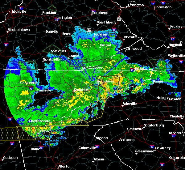 Radar Image for Severe Thunderstorms near Franklin, NC at 5/27/2017 11:36 PM EDT