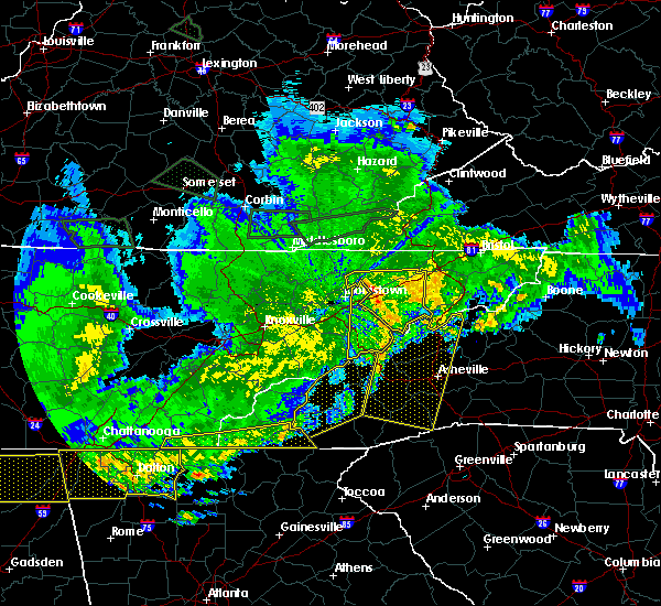 Radar Image for Severe Thunderstorms near Brevard, NC at 5/27/2017 11:43 PM EDT