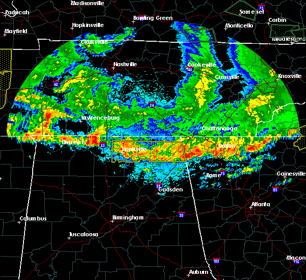 Radar Image for Severe Thunderstorms near Section, AL at 5/27/2017 10:50 PM CDT