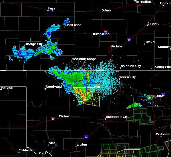 Radar Image for Severe Thunderstorms near Waukomis, OK at 5/28/2017 12:22 AM CDT