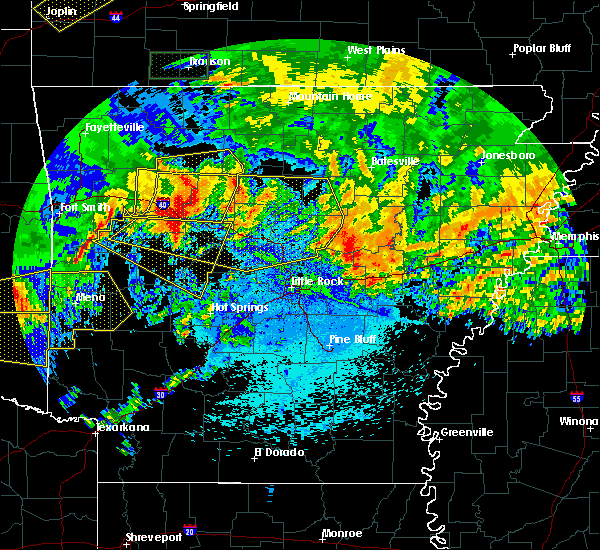 Radar Image for Severe Thunderstorms near Clinton, AR at 5/28/2017 12:53 AM CDT