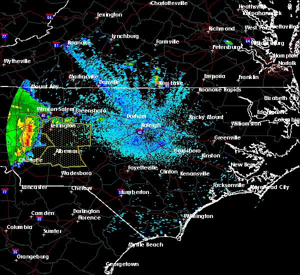 Radar Image for Severe Thunderstorms near Norwood, NC at 5/28/2017 2:41 AM EDT