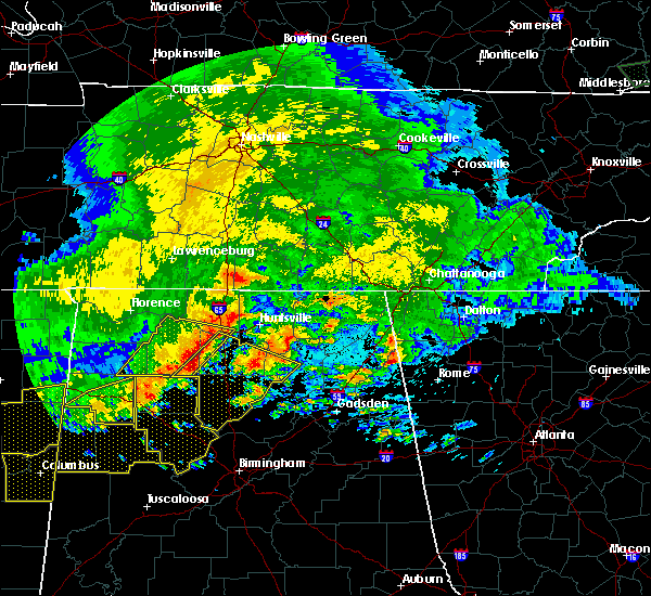 Radar Image for Severe Thunderstorms near Hartselle, AL at 5/28/2017 1:54 AM CDT