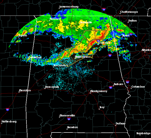 Radar Image for Severe Thunderstorms near Egypt, AL at 5/28/2017 3:09 AM CDT