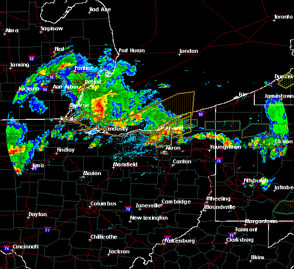 Radar Image for Severe Thunderstorms near Kirtland Hills, OH at 5/28/2017 6:20 PM EDT