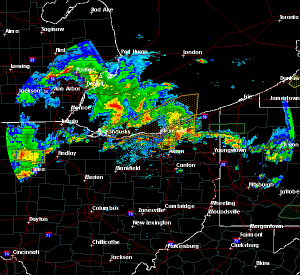 Radar Image for Severe Thunderstorms near Eastlake, OH at 5/28/2017 6:39 PM EDT
