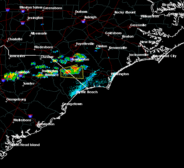 Radar Image for Severe Thunderstorms near Fair Bluff, NC at 5/28/2017 6:42 PM EDT