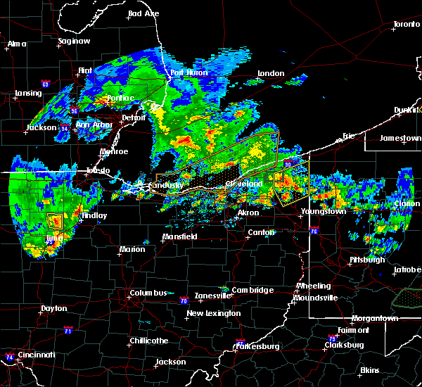 Radar Image for Severe Thunderstorms near Cortland, OH at 5/28/2017 7:07 PM EDT