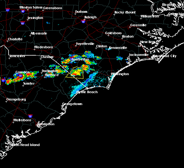 Radar Image for Severe Thunderstorms near Fair Bluff, NC at 5/28/2017 7:08 PM EDT