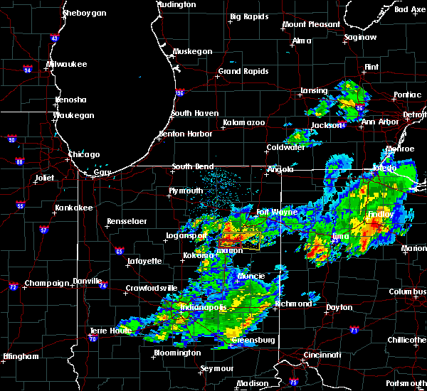 Radar Image for Severe Thunderstorms near Warren, IN at 5/28/2017 7:36 PM EDT