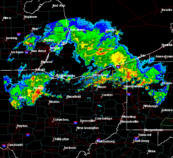 Radar Image for Severe Thunderstorms near Cortland, OH at 5/28/2017 7:44 PM EDT