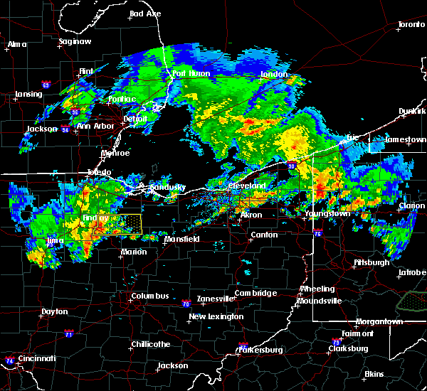 Radar Image for Severe Thunderstorms near New Riegel, OH at 5/28/2017 7:53 PM EDT