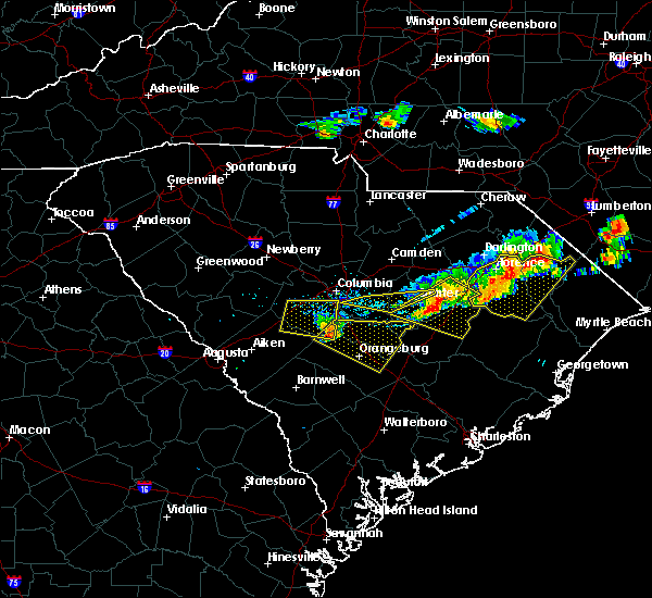 Radar Image for Severe Thunderstorms near Swansea, SC at 5/28/2017 8:13 PM EDT