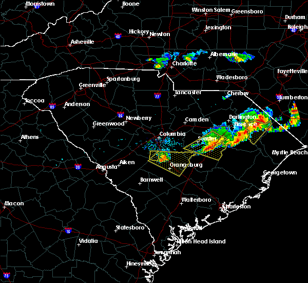 Radar Image for Severe Thunderstorms near Swansea, SC at 5/28/2017 8:25 PM EDT