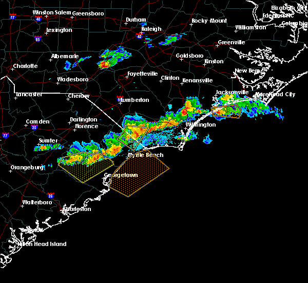 Radar Image for Severe Thunderstorms near Loris, SC at 5/28/2017 9:17 PM EDT