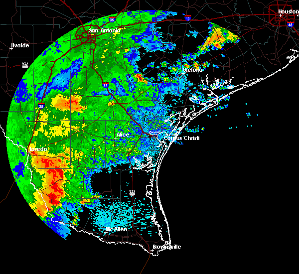Radar Image for Severe Thunderstorms near Pueblo Nuevo, TX at 5/29/2017 12:06 AM CDT