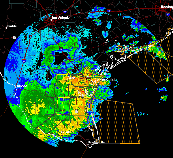 Radar Image for Severe Thunderstorms near Corpus Christi, TX at 5/29/2017 2:38 AM CDT