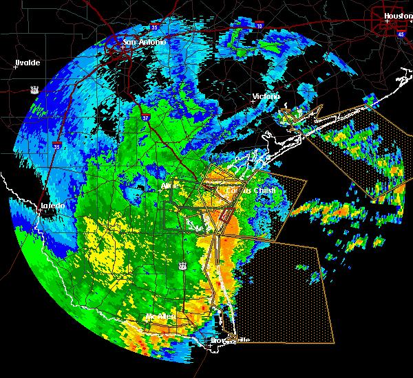 Radar Image for Severe Thunderstorms near Corpus Christi, TX at 5/29/2017 3:21 AM CDT