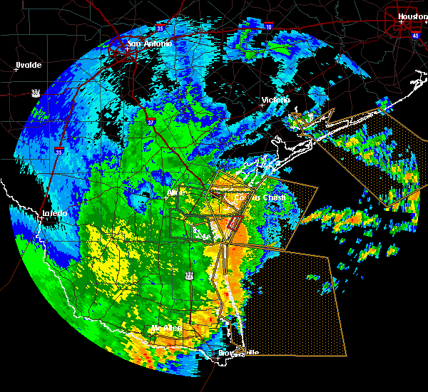 Radar Image for Severe Thunderstorms near Corpus Christi, TX at 5/29/2017 3:21 AM CDT