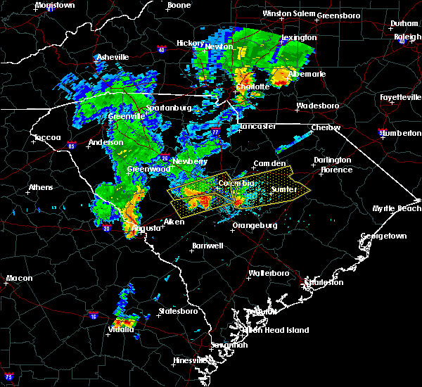 Radar Image for Severe Thunderstorms near Oswego, SC at 5/29/2017 7:36 PM EDT
