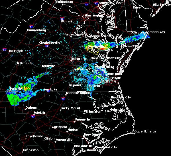 Radar Image for Severe Thunderstorms near Tappahannock, VA at 5/29/2017 7:55 PM EDT