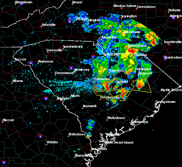 Radar Image for Severe Thunderstorms near Elloree, SC at 5/29/2017 9:29 PM EDT