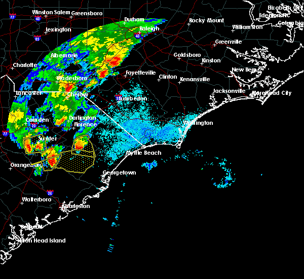 Radar Image for Severe Thunderstorms near Hemingway, SC at 5/29/2017 9:39 PM EDT