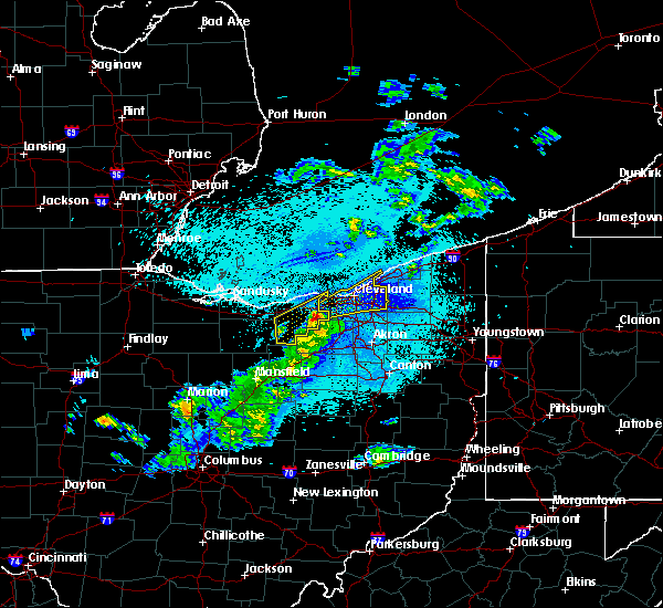 Radar Image for Severe Thunderstorms near Orange, OH at 5/29/2017 11:43 PM EDT