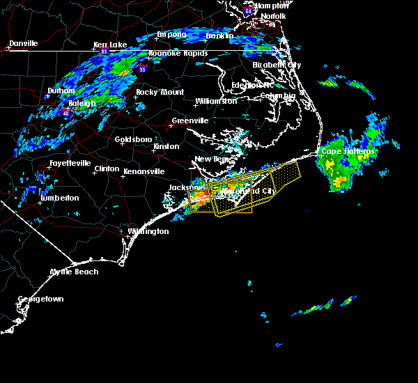 Radar Image for Severe Thunderstorms near Newport, NC at 5/30/2017 8:59 AM EDT