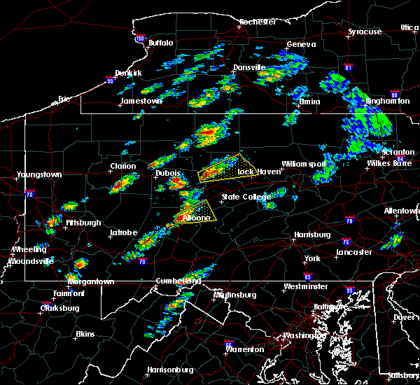 Radar Image for Severe Thunderstorms near Tyrone, PA at 5/30/2017 12:37 PM EDT