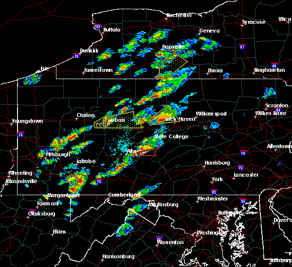 Radar Image for Severe Thunderstorms near Huntingdon, PA at 5/30/2017 1:20 PM EDT