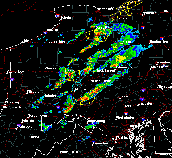 Radar Image for Severe Thunderstorms near Clymer, PA at 5/30/2017 2:30 PM EDT