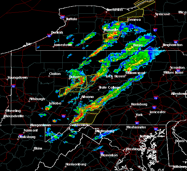 Radar Image for Severe Thunderstorms near Grassflat, PA at 5/30/2017 2:46 PM EDT