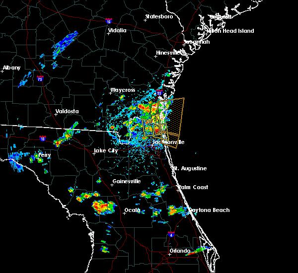 Radar Image for Severe Thunderstorms near Yulee, FL at 5/30/2017 4:00 PM EDT