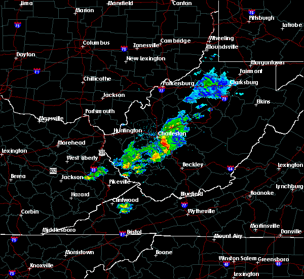 Radar Image for Severe Thunderstorms near Belle, WV at 5/31/2017 12:07 PM EDT