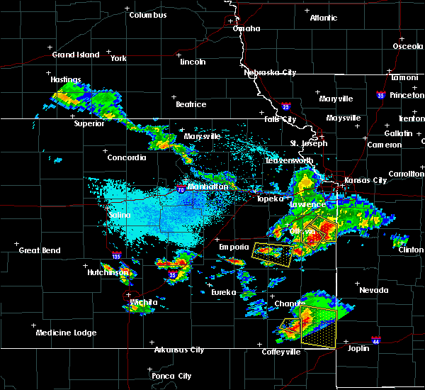 Radar Image for Severe Thunderstorms near Welda, KS at 5/31/2017 1:54 PM CDT