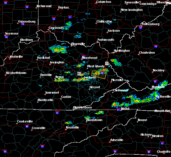 Radar Image for Severe Thunderstorms near Prestonsburg, KY at 5/31/2017 3:38 PM EDT