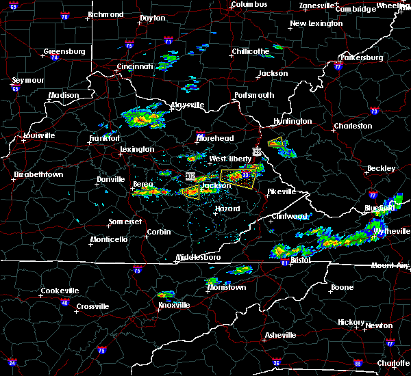 Radar Image for Severe Thunderstorms near Jackson, KY at 5/31/2017 3:48 PM EDT