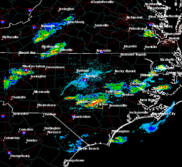 Radar Image for Severe Thunderstorms near Clinton, NC at 5/31/2017 4:04 PM EDT