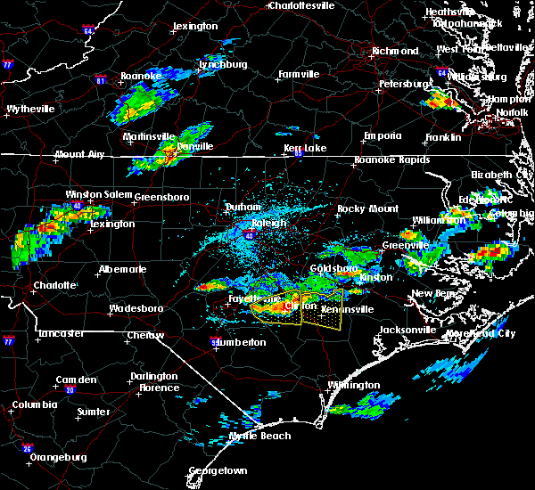 Radar Image for Severe Thunderstorms near Mount Olive, NC at 5/31/2017 4:20 PM EDT