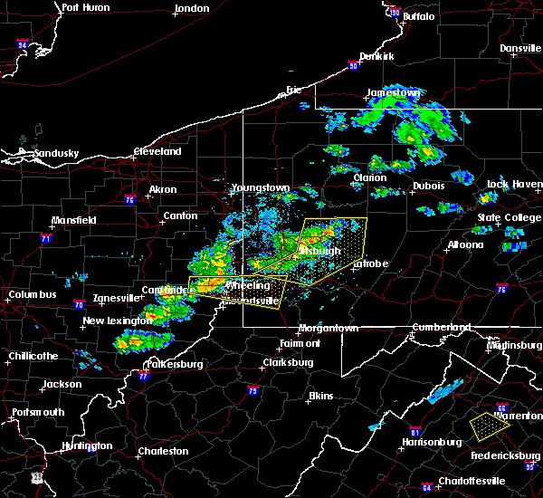Radar Image for Severe Thunderstorms near Kittanning, PA at 5/31/2017 4:23 PM EDT