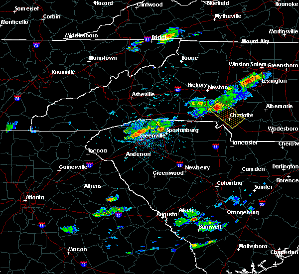 Radar Image for Severe Thunderstorms near Spencer Mountain, NC at 5/31/2017 4:33 PM EDT