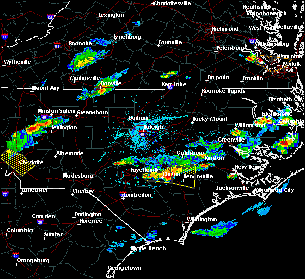 Radar Image for Severe Thunderstorms near Clinton, NC at 5/31/2017 4:33 PM EDT