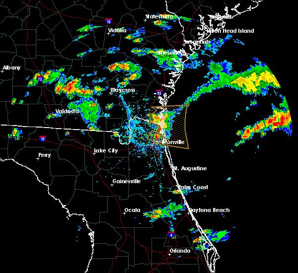Radar Image for Severe Thunderstorms near Jacksonville, FL at 5/31/2017 4:36 PM EDT