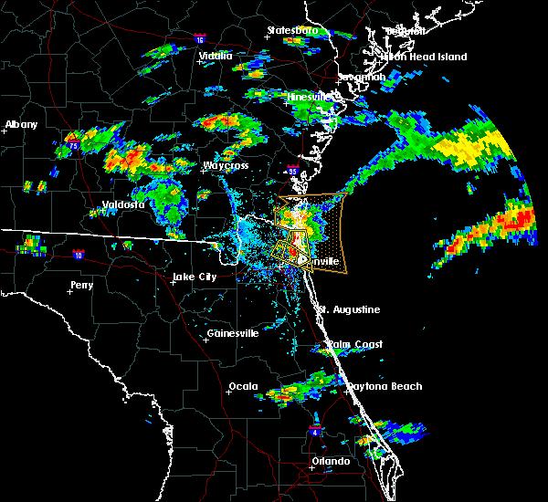 Radar Image for Severe Thunderstorms near Yulee, FL at 5/31/2017 4:42 PM EDT