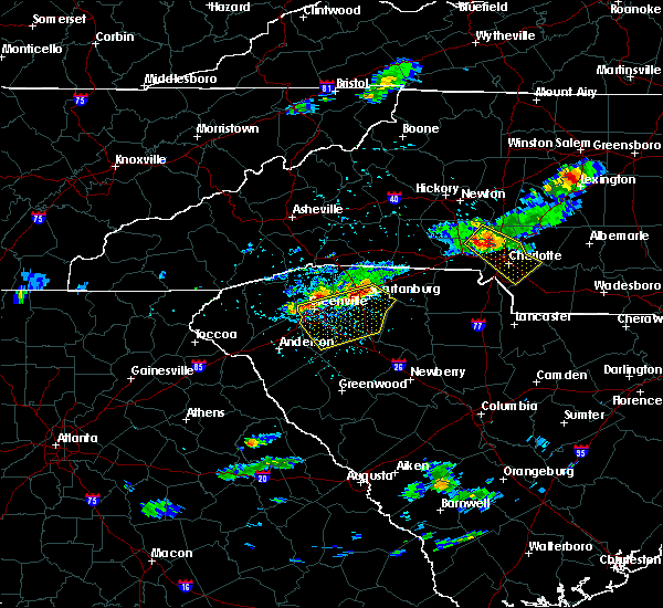 Radar Image for Severe Thunderstorms near Berea, SC at 5/31/2017 4:49 PM EDT
