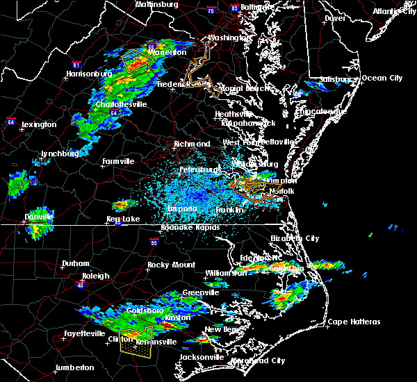 Radar Image for Severe Thunderstorms near Newport News, VA at 5/31/2017 4:49 PM EDT