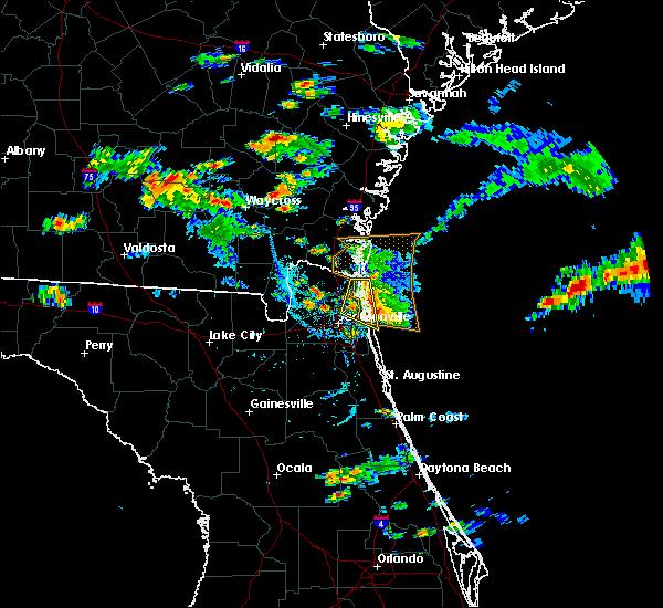 Radar Image for Severe Thunderstorms near Jacksonville, FL at 5/31/2017 5:06 PM EDT
