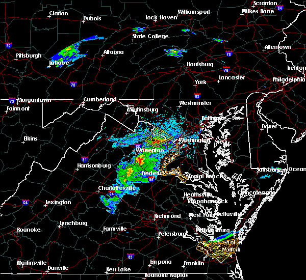 Radar Image for Severe Thunderstorms near Chantilly, VA at 5/31/2017 5:15 PM EDT