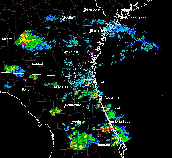 Radar Image for Severe Thunderstorms near Jacksonville, FL at 6/1/2017 4:15 PM EDT